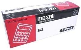 100pcs Maxell CR2025 3V Lithium Cell Battery (Box Set) by Maxell
