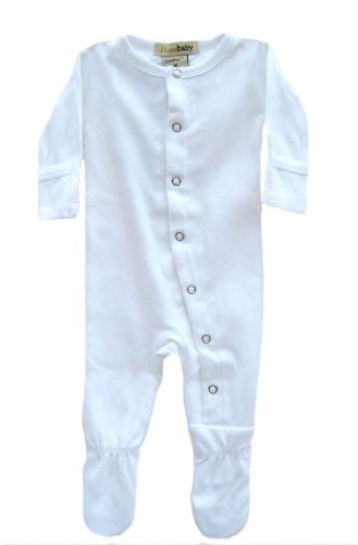 (L'ovedbaby Gloved-Sleeve Overall, White Newborn (up to 7 lbs.) )