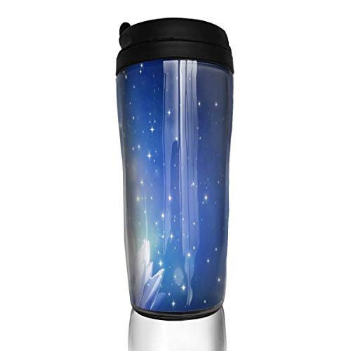 - Coffee Cup Lotus Flower Sparkles Blue Travel Tumbler Insulated Leak Proof Drink Containers Holder Great 12 Ounces