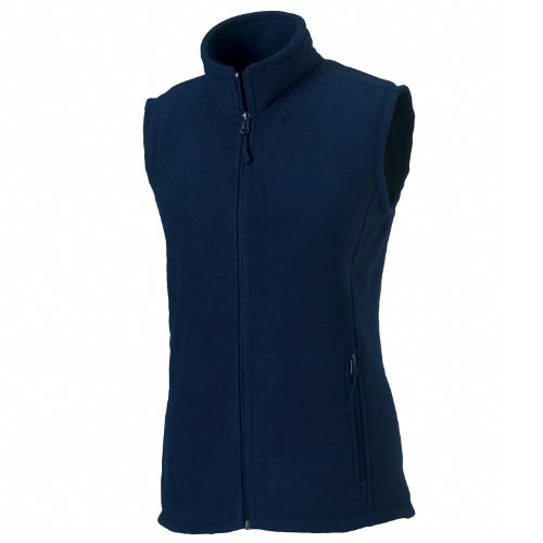 Russell Gilet Navy pile con di cerniera Blu Donna Europe OFw5rqHO