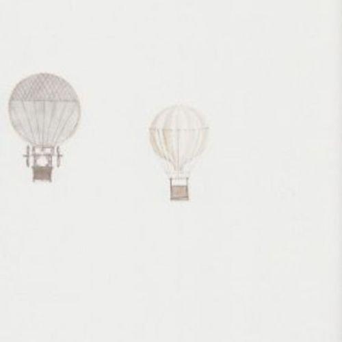 18991116 - Jules et Julie Grey Air Ballons Casadeco Wallpaper by Casadeco