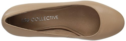 Women's Block Low Leather Toe Heel Pump Neutral Round 206 Collective Merritt xa5XwqaHZ