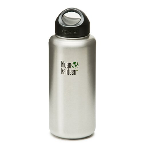 Klean Kanteen Wide Mouth Stainless Steel Water Bottle (40-Ounce)