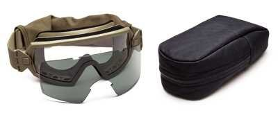 Smith Optics Elite Outside the Wire Goggle Retail Kit, Gray/Tan Cat Eye Interchangeable Goggles