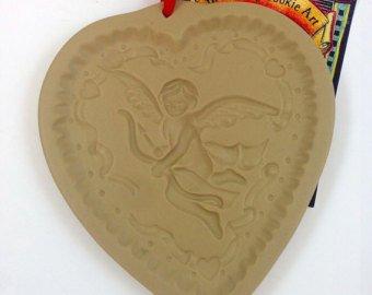 Brown Bag Cookie Mold (Brown Bag Cookie Art Cookie Mold Cupid Heart 1992)