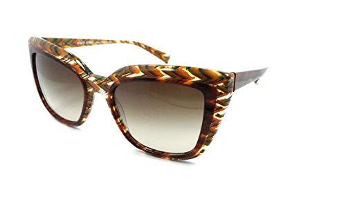 Alain Mikli Sunglasses A0526 E1073B 55-20-140 Havana Chevron Orange/Brown Grad (Mikli Sunglasses)