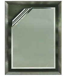 9 x 12 Grey Mirror Plaque Engraved with 7 x 10 Grey Rolled Plate by Gino's Awards Inc