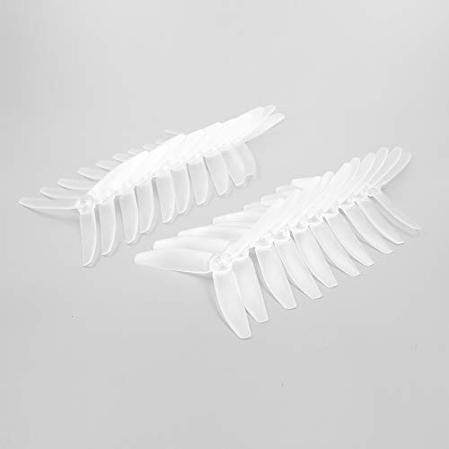 10 Pairs Transparent White GEPRC 5040 V2 5 Inch 3 Blade Propeller Transparent Color for RC Multirotor FPV Racing Drone (Transparent White)