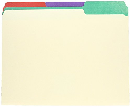 (Pendaflex 1/3 Cut 3/4-Inch Letter Manila File Folders with Assorted Color Tabs, 50 per Box (PFX84101))