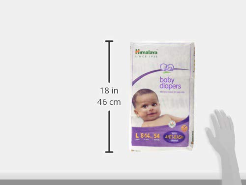 Himalaya Baby Taped Diapers Large Size 54 Pieces