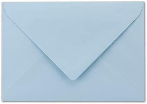 50 DIN C6 Briefumschläge hellblau 11,4 x 16,2 cm 80 g/m² Nassklebung Post-Umschläge ohne Fenster ideal für Weihnachten Grußkarten Einladungen von Ihrem Glüxx-Agent