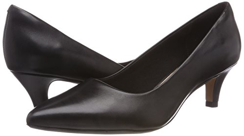 Linvale Negro Mujer Clarks Jerica Para Zapatos black Tacón De Leather RnBCwqH