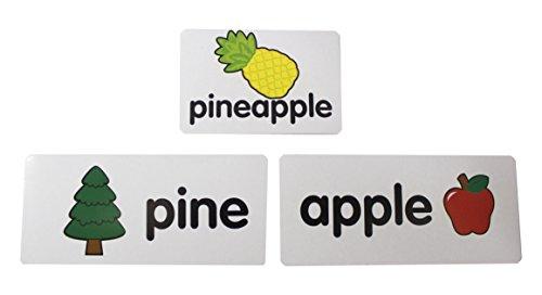Compound Words Pocket Chart Card Puzzles - Language