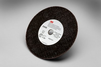 3M COW Aluminum Oxide Cutoff Wheel - Type 1 (Straight) - 4 in Dia 3/8 in Center Hole - Thickness 7/8 in - 21000 Max RPM - 25131 [PRICE is per WHEEL] by 3M