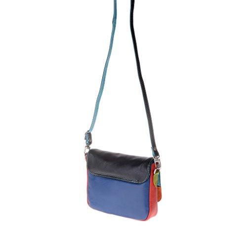 Dudu - Sac porté épaule en cuir - Colorful Collection - Ellesmere - Noir