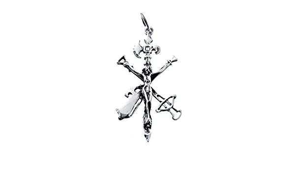 Colgante Cruz Cristo de la Buena Muerte Legi/ón 45 x 25 mm Plata de Ley 925 mil/ésimas Iy/é Biy/é Jewels