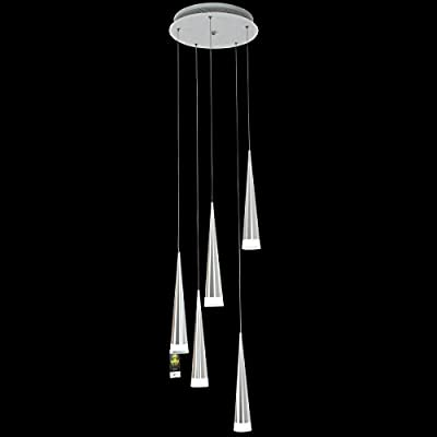 LightInTheBox Max 5W Pendant Light Modern Chrome Chandeliers Ceiling Lighting Fixture for LED Metal Living Room / Bedroom / Dining Room / Kitchen 5 Lights on One Base Light Source Color=White