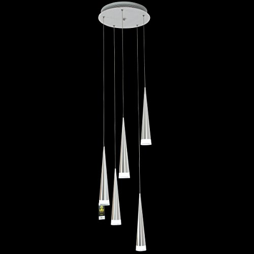 lightinthebox max 5w pendant light modern chrome chandeliers ceiling lighting fixture for led metal living room bedroom dining room kitchen 5 lights - Led Dining Room Light Fixtures