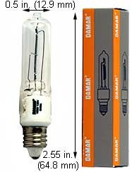 Halogen Ceiling Lights 100QCLMC 130V Clear (Case of 15)
