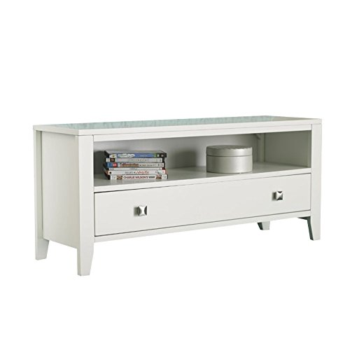 NE Kids Pulse 1 Drawer Bedroom Bench in White