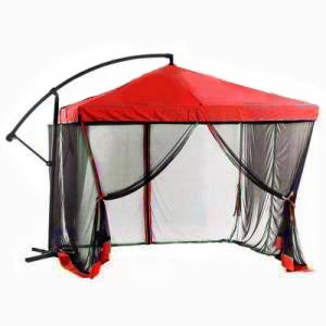 Charmant SunShade 9 Ft Offset Square Patio Umbrella With Mosquito Netting