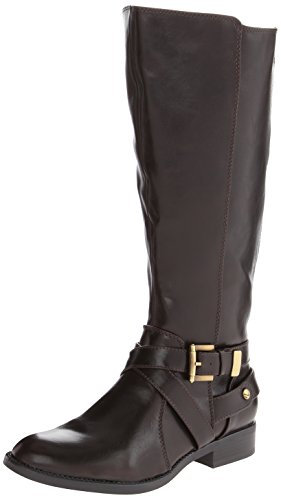 LifeStride Women's Racey Riding Boot,Dark Brown Wide Shaft,7 M US