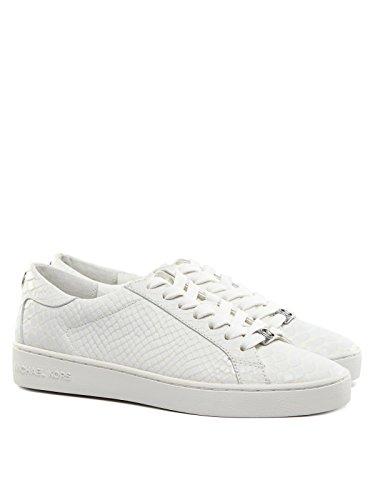 Michael Kors Keaton Embossed Python Sneakers Weiß