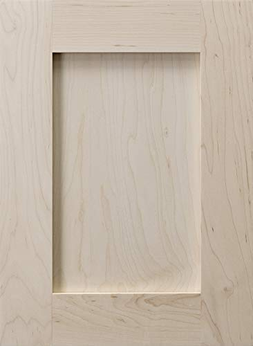 "Cabinet Doors 'N' More 13"" W x 28"" H x 3/4"" Replacement Unfinished Paint Grade Hard Maple Shaker Recess Panel Cabinet Door for 15"" and 30"" Wide Framed Kitchen Base Cabinet"