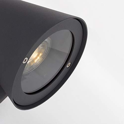 Decoración Moderna lámpara de Pared Gris Oscuro Aluminio plique ...