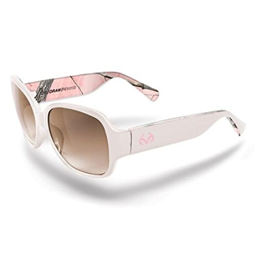 Realtree APC Pink Camo Draw Sunglasses Silver Plastic Frame/Brown Smoke - Realtree Pink Sunglasses Camo
