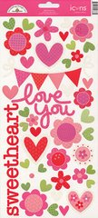 - Doodlebug Design Sweet Love Collection Sugar Coated Cardstock Stickers Icons