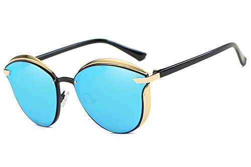 FEISEDY Stylish Polarized Women Driving Sunglasses Vintage Round Design B2418 by FEISEDY