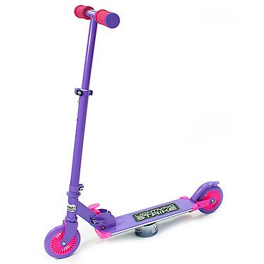 OZBOZZ SV12712 Purple and Pink Lightning Strike Scooter with Motion Activated Lights