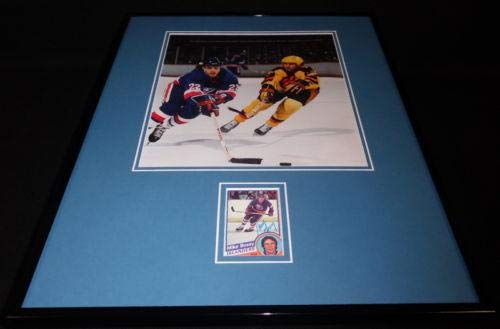 Mike Bossy Signed Framed 16x20 Photo Display NY Islanders D