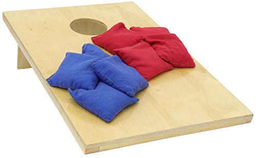 Pennsylvania Woodworks Cornhole Game Set :: 2 Solid Wood Corn Toss Boards + 8 Corn Filled Bean Bags :: Tailgate Size, Weather Resistant Finish, 30'' x 24'' :: Slim, Foldable & Portable by Pennsylvania Woodworks (Image #6)