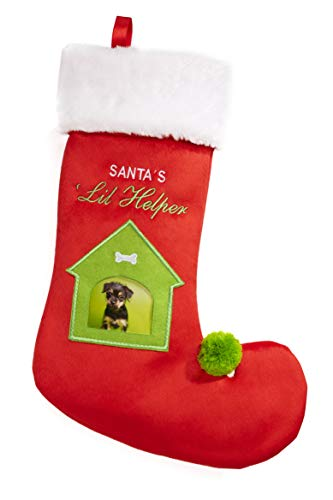(Santa's Lil Helper Stocking with Photo Window)