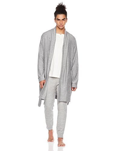 Rebel Canyon Men's Young Super Soft Hacchi Robe with Pockets XX-Large Grey Heather Marl Canyon Cotton Robe