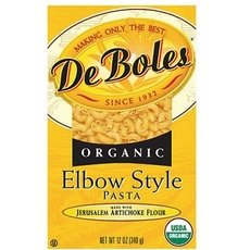Deboles B08219 DeBoles Organic Elbow Macaroni Style Pasta - 12x12Oz Deboles Organic Pasta