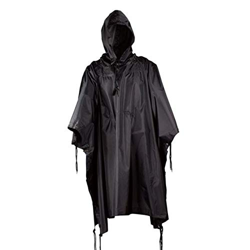 Red Rock Outdoor Gear 1001BLK G.I.-Style Ripstop Nylon Poncho Black