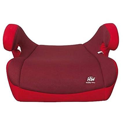 Silla Auto Elevador con Isofix grupo 2 y 3 Rojo