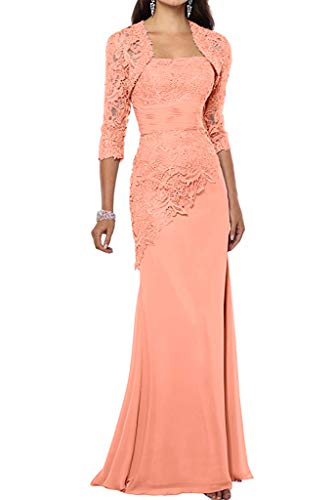 Cocktail Peach (VaniaDress Women Long Mother of The Bride Dress with Jacket Formal Gowns V263LF Peach US14)