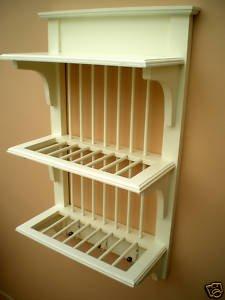 Wooden Cream Wall Plate Rack & Wooden Cream Wall Plate Rack: Amazon.co.uk: Kitchen u0026 Home