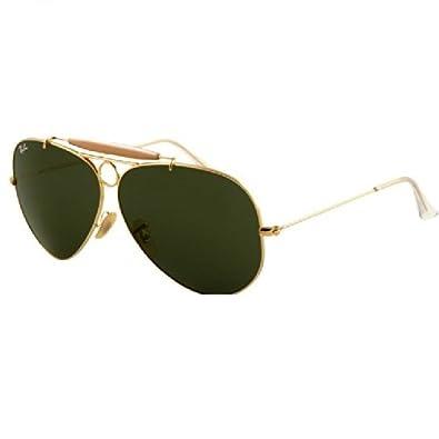 Ray Ban RB3138 Shooter Sunglasses-001 Arista Gold (G-15XLT Lens)-