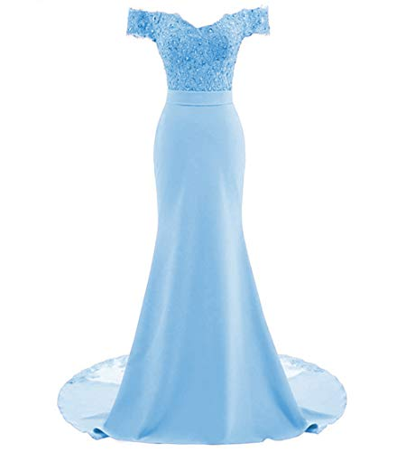 PearlBridal Women's Off Shoulder Appliques Mermaid for sale  Delivered anywhere in USA