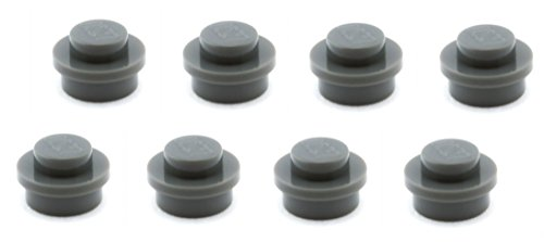 Lego-Parts-Round-Plate-1-x-1-PACK-of-8-DBGray