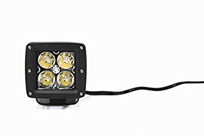 2x Wicked Racing 3in 12w Cube LED Work Light -Spot Beam // Pair 3x3