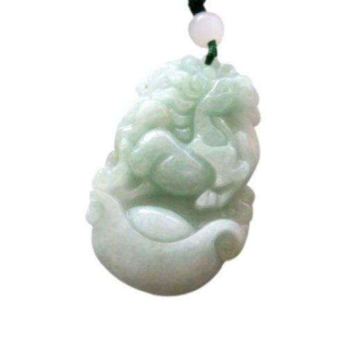 Jade Pendant Bracelet - OVALBUY Jadeite Jade Chinese Zodiac Amulet Pendant Various Animals (Horse)