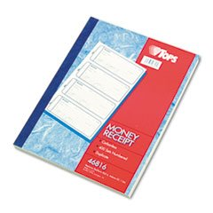 * Money and Rent Receipt Books, 2-3/4 x 7 1/8, Two-Part Carbonless, 400