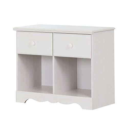 South Shore Summer Breeze 2-Drawer Double Nightstand, White Wash by South Shore