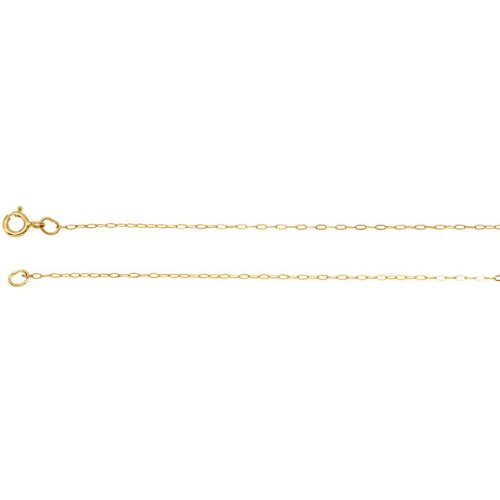 14K Yellow Gold .50mm Solid Cable 24 inch Chain